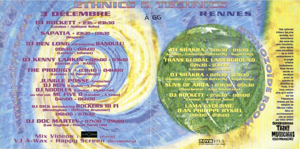3ème soirée de clôture des Transmusicales de Rennes 1994